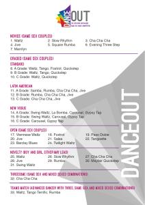 DANCEout dance list 2016