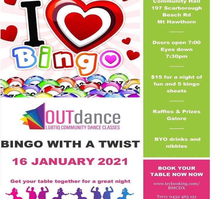 Bingo with a Twist  16th January 2021